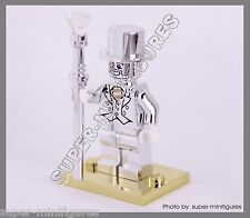 MR.Silver  Mr.gold stand Minifigures series 10  (lego custom)
