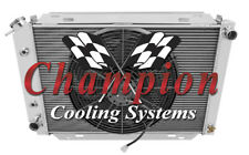 """4 Row Racing Champion Radiator W/ 16"""" Fan for 1979 - 1993 Ford Mustang"""
