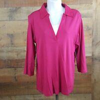 NWT Izod Women's 3/4 Sleeve Blouse Size XL Pink  CC24
