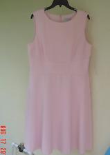 NWT TAHARI ASL PINK CAREER FLARE DRESS SIZE 14 $129