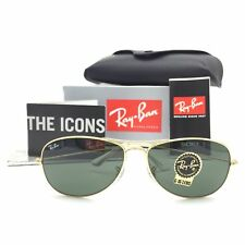 New Ray-Ban Cockpit RB3362 001 Gold Pilot Sunglasses w/ G-15 Green Lenses 59mm