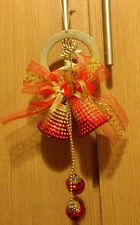 Merry Christmas reindeer with gold &red bell bauble tree/door/wall decoration