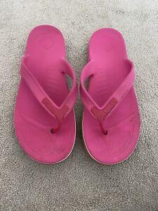 Womens Ladies Girls crocs sandals Shoes Flip Flops size UK 8/9 M9 W11 pink
