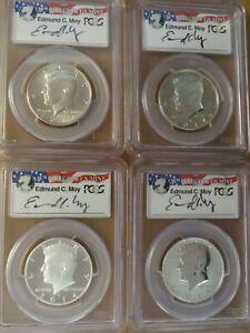 2014 D P S W Kennedy PCGS 70 Edmund Moy 50th Anniversary 4-Coin Set First Strike