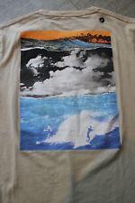 HOLLISTER Herren T-Shirt Shirt Beige mit buntem Print Größe M Neu mit Etikett