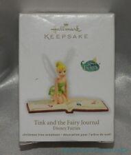 2012 HALLMARK Disney Fairies TINK & THE FAIRY JOURNAL Holiday Christmas Ornament