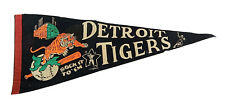 1968 Detroit Tigers Sock It To 'Em Vintage Full Size Pennant Tiger Stadium Rare