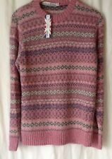 NEW LADIES FAIR ISLE NORDIC PATTERN KNITTED ACRYLIC WINTER JUMPER *9 COLOURS*