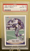 1990 Fleer Update Emmitt Smith #U-40 PSA 10