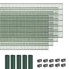 Gartenzaun Doppelstabmattenzaun Grün Garten Doppel-Stab Matten Zaun
