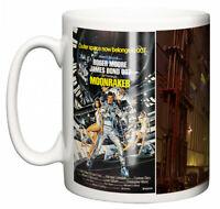 Dirty Fingers Mug, Roger Moore James Bond Moonraker, Film Design Poster