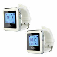 2pcs New RF Wireless Watch Calling Receiver Restaurant Waiter Call Pager System