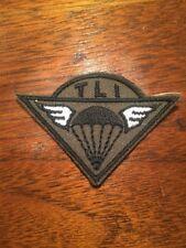 MILITARY PATCH 101st AIRBORNE TLI PARATROOPER PARACHUTE BLACK
