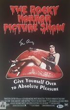 Tim Curry Signed Rocky Horror Picture Show 11x17 Print Bas Coa Proof