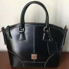 Dooney & Bourke Selleria Florentine Leather Domed Satchel ~ Black