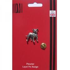Staffordshire Bull Terrier Dog Lapel Pin Badge STAFFIE OWNER Birthday Present