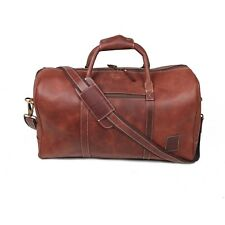 "20"" Vintage Leather Duffle Travel Bags Aircabin Carryon Overnight Hand Luggage"