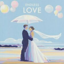 Endless Love Art Deco Blank Anniversary Wedding Husband Wife Birthday Card