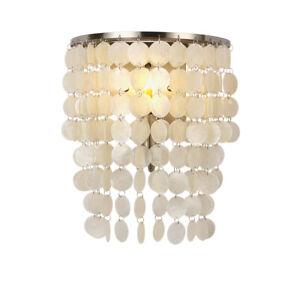 Nature Capiz Shells Seashell Wall Lamp Scone Lights Lighting Fixtures Home Decor