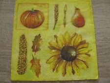 20 Servietten 3-lagig 1//4-Falz 33 x 33 cm Autumn Herbst Gießkanne Laub Apfel