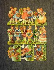 Vintage EAS Germany Die-Cut Paper Scraps Sheet Little Girl/Boy 3006 MINT