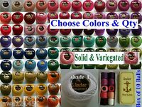 12 ANCHOR Pearl Cotton Crochet Embroidery Thread Balls. Choose from 220+ Colours