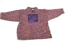 Cow Lizard Striped Top Shirt Jacket Boys Girls kids Size 4 Turtleneck