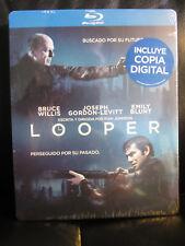 Looper Blu-Ray Steelbook [Spain] Region B Mint Sealed New Rare Sci-Fi Action