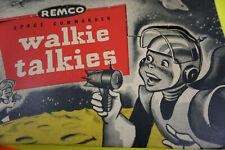 RARE 1950's REMCO SPACE COMMANDER Walkie Talkies OLD STOCK MOON Landing NICE