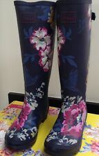 JOULES NAVY BLUE CAM FLORAL WELLIES. SIZE 5. BRAND NEW WITH TAG