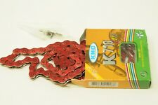 """HIGH QUALITY CHAIN KMC  K710 RED BMX FIXIE CHAIN 1/2"""" x 1/8"""" 100 LINK 66% OFF"""