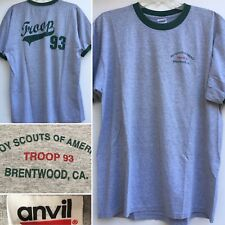 Boy Scouts Of America Troop 93 Brentwood CA Ringer Tee T-Shirt XL