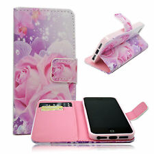 Amazing Flower Leather Card Slot Soft Cover Case Flip For Apple iPhone 5 5S 5G