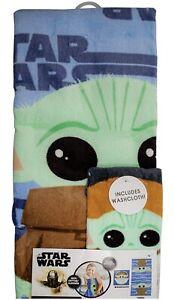 Star Wars The Mandalorian 2 Piece Towel Set NEW 100% Cotton Washcloth And Towel