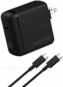 65W USB-C PD Wall Charger PLUS USB-C to C Cable, UL-Listed and USB-IF Certified