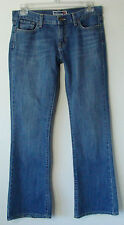 Women`s OLD NAVY Brand Jeans Flair Ultra Low Rise Stitching Pockets Size 8 Reg.