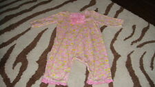BOUTIQUE BABY LULU 6M 6 MONTHS FLORAL ROMPER OUTFIT