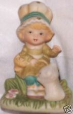 Vintage Homco Figurine Little Girl and Bear 1430
