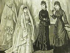 Victorian CONFIRMATION & COMMUNION DRESSES 1877 Art Matted