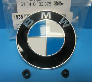 GENUINE BMW Hood Emblem Roundel OEM # 51148132375 with Grommets 3.25""