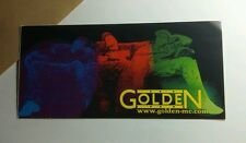 GOLDEN MC COUCH SITTING RED BLUE GREEN  3x6 MUSIC STICKER