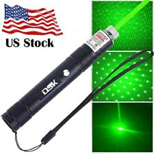 990Miles 532nm Aa Green Laser Pointer Pen 2in1 Star Cap Beam Presentation Lazer