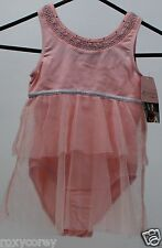 Danskin Girls Pink & Silver Sleeve Leotard Size XSmall 4/5 NWT
