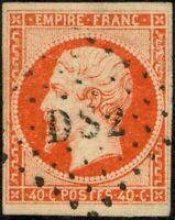 Francia - 1853/60 - cent.40 - Effige di Napoleone III - Unificato n.16 - usato