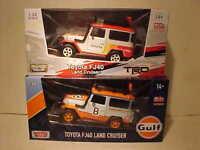 2 pack Toyota FJ40 SUV Land Cruiser Truck Die-cast Car 1:24 Motormax 7 inch 4x4