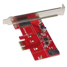 SINTECH M.2 NGFF SSD+SATA 3 PCI-e express 1X controler adatper Card ASM1061