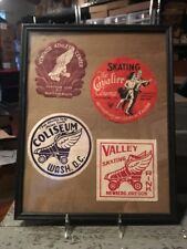 Vintage 1930-1950 Era Roller Skating Rink Decals Washington, Oregon, Richmond...