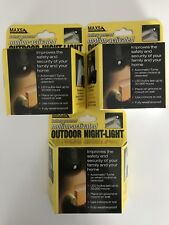 Outdoor Night Light Maxsa Battery Powered Motion Activated 40342 Lot Of 3