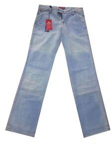 jeans indian rose da donna a palazzo vita bassa larghi gamba larga 40 42 chiari