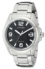 Citizen AW1430-86E Men's Eco Drive Stainless Steel Black Dial Analog Sport Watch